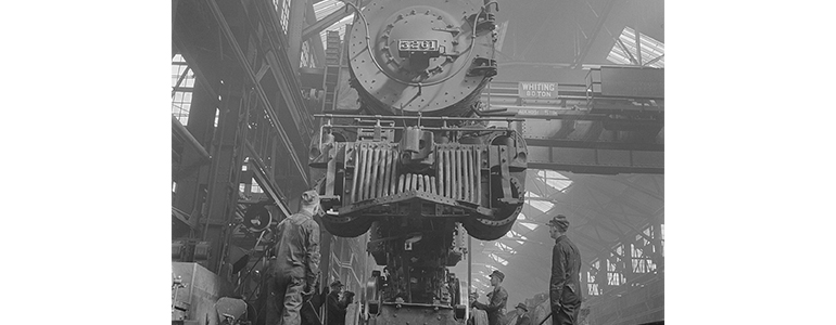 locomotive being repaired