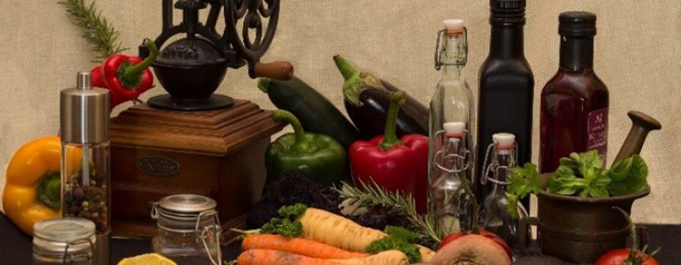 a table full of fruits and vegetables