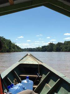 view from Peruvian boat