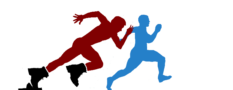 fast and slow runners